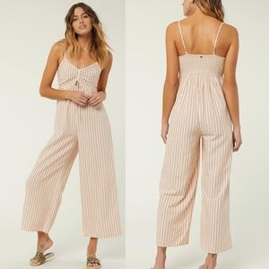 O'Neill Anabella Striped Cropped Jumpsuit